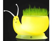 USB Rechargeable Snail LED Flower Pot  Desk Lamp