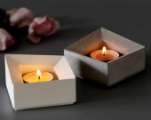 Tea Light Concrete Candle Holder