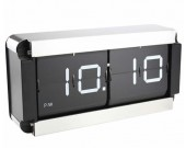 Stainless Steel Square Auto Flip Clock