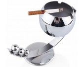 Stainless steel Ashtray with Tray Holder