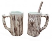 Tree Bark Ceramic  Coffee Mug