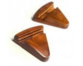 Black Walnut Wood Triangle Portable Smartphone Holder