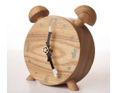 Twin Bell Wooden Alarm Clock