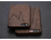 Ultra Thin  Wooden Phone Case for iPhone 8/8Plus/7/7 Plus/6/6 Plus/6S/6S Plus,Black Walnut