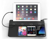 Universal Multi-Device Charging Station for Smart Phones & Tablets, Black