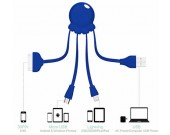 Universal Octopus USB Charger Adapter Lightning And Micro USB for Smart Phones, Tablets