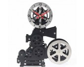 Vintage Film Movie Projector Tabletop Gear Clock