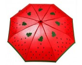 Watermelon Style Anti UV Windproof 3 Folding Umbrella