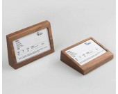 Wood Business Card Display Holder