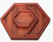 Set of 4 Wooden Jewelry Display Storage Trays