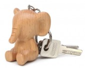 Wood Animal Keyring Keychain