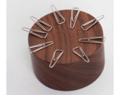 Wood Magnetic Paper Clip Holder