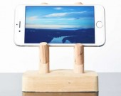 Wood Mobile Phone Stand, Smartphone Cell phone Stand Holder