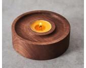 Wood Round Candle Holder