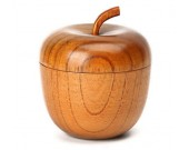 Wooden Apple Shaped Bowl