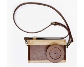 Wooden Camera Small Crossbody Cell Phone Purse Wallet With Shoulder Strap