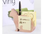 Wooden Cat Shaped Memo Pads and Pen Holder