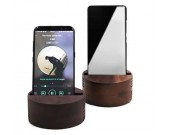 Wooden Cell Phone Stand Wood Speaker Sound Amplifier Desk stand for iphone android phone