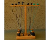 Wooden Desk Earphone Cord Manager