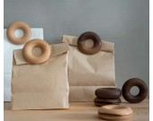 Wooden Doughnut  Sealing Clips for Food and Snack Bag,6pcs