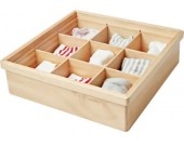 Wooden Drawer Dividers, Storage Boxes, Closet Organizers, Under Bed Organizer
