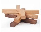 Wooden  Fold Trivet Mat, Hot Pot Holder Pads, Set of 2