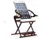 Wooden Folding Chair Cell Phone Stand Holder