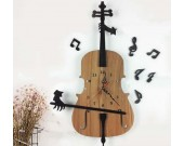 Wooden  Guitar Shaped  Wall Clock