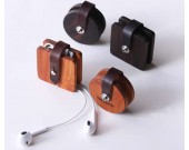 Wooden Headphone Wrap Winder Cable Cord Organizer