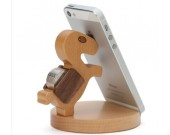 Natural Wooden Horse Cell Phone Stand  Holder For Iphone Ipad SmartPhone Tablet Plate PC