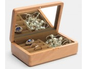 Wooden Jewelry Box Organizer Display Storage Case for Rings Earrings Necklace