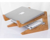 Wooden Bamboo Mount Holder Cradle Stand For MacBook Air / Pro