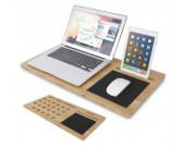 "Bamboo Laptop Mobile Lap Desk,Fits 15"" and smaller laptops."