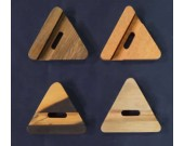 Wooden Mixed Shape Desktop Cell Phone Holder