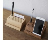 Wooden Multi-Function Desk Organizer for Pen/Pencil,Business Card