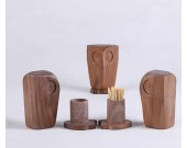 Wooden Owl Toothpick Box Toothpick Case Holder