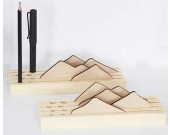 Wooden Pen/Pencil Holder with Cell Phone Stand for Desk