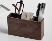 Wooden Pen Pencil Storage Holder Stationery Box
