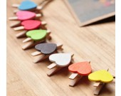 Wooden Photo Clips, Pack of 20