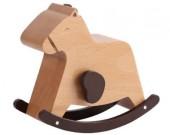 Wooden Rabbit & Horse Musical Box
