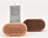 Wooden Radio Style Cell Phone Charging Dock, Sound Amplifier Wooden Amplification Stands for iPhone 8 8 Plus 77 Plus6s6s Plus