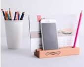 Wooden SmartPhone Speaker Sound Amplifier Stand Dock  Pen Pencil Stand Holder Photo Card Holder