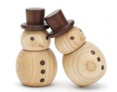 Wooden Snowman Car Aromatherapy Essential Oil Diffuser