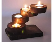 Vintage  Wooden Stairs Candle Tealight Holder