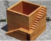 Wooden Architectural  Succulent Planter / Plant Pot / Flower Pot / Bonsai Pot