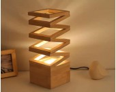 Wooden Table Lamp Modern Style Hardwood Bedroom Living Room Bedside Desk Lamp
