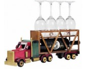 Wooden Trailer Truck  Wine Bottle Holder