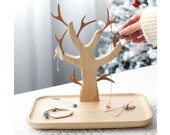 Wooden  Tree Jewelry Stand Display Earring Necklace Holder Organizer Rack Tower Cake Stand and Fruit Plate