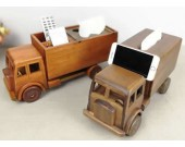 Handmade Wooden Truck Tissue Box