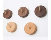 2pcs/lot Wooden Hooks Wall Mounted Coat Hanging Hook